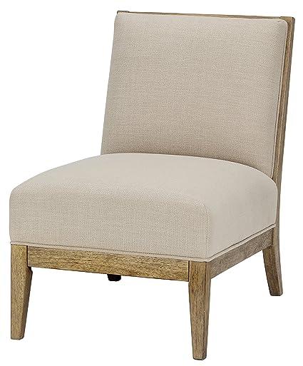 Delicieux Ashley Furniture Signature Design   Novelda Accent Chair   Neutral Tan    Faux Wood Finish