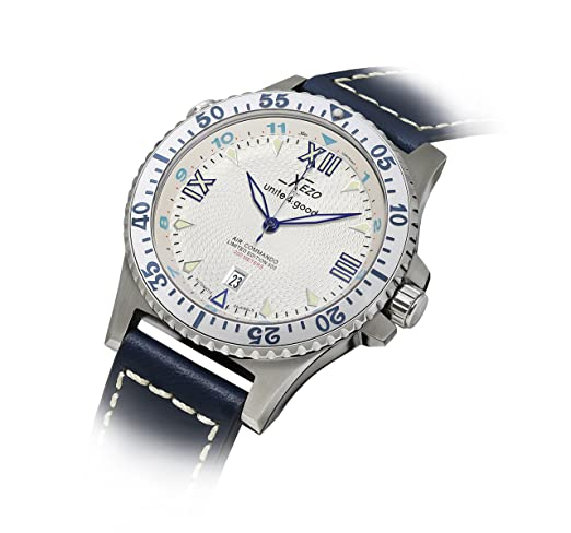 Reloj automático Air Commando Xezo de Lujo, Cristal de Zafiro, Movimiento Citizen, 20 ATM: Amazon.es: Relojes