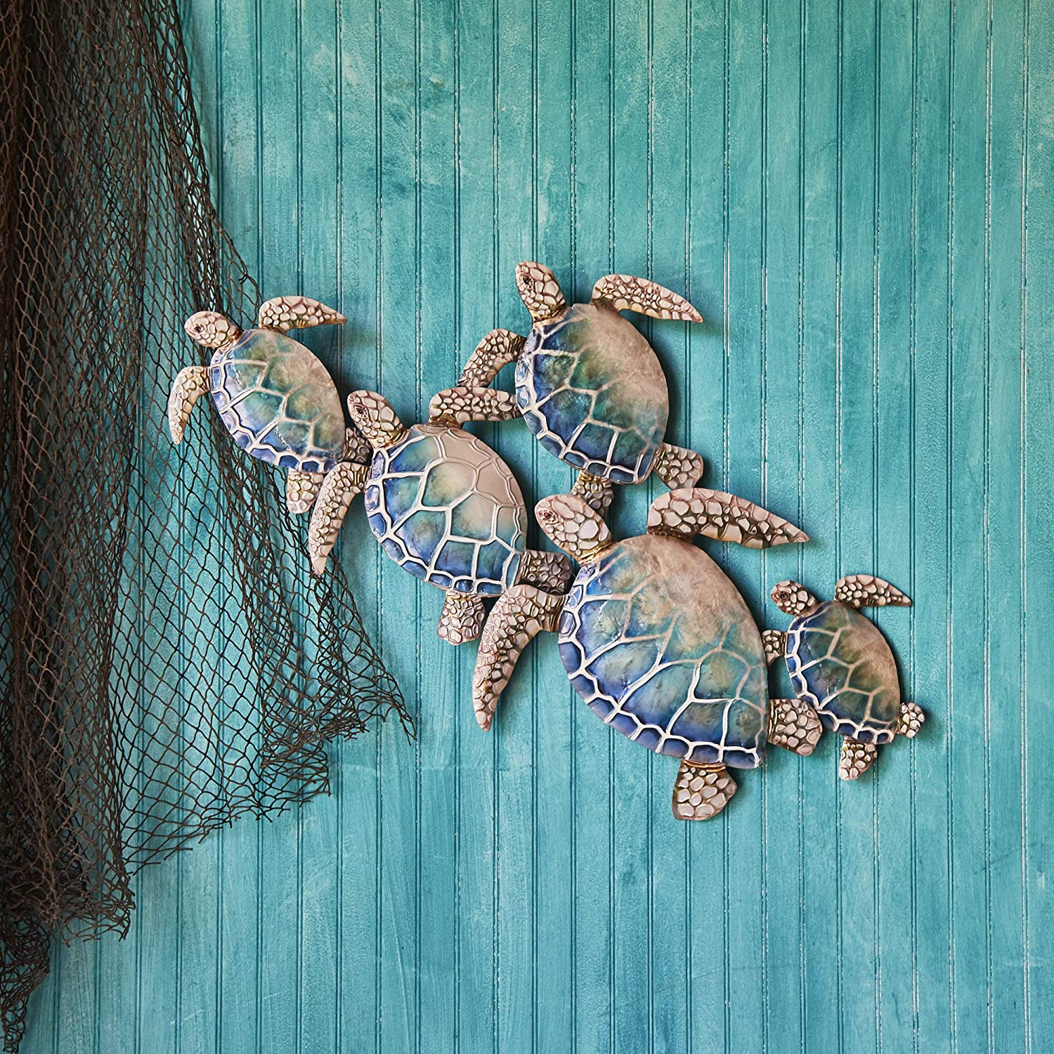 Eangee Home Design Sea Turtle Wall Decor Group Of Five (m8004)