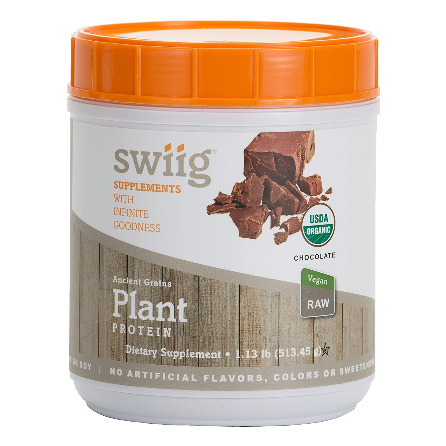 swiig Organic Ancient Grains Plant Protein Chocolate 1.24lb