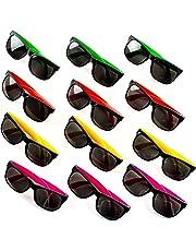 f3ea7c0603 Neliblu Neon Bulk Kids Sunglasses Party Favors - 24 Pack - Bulk Pool Party  Favors
