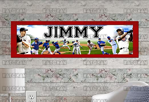 Personalized//Customized Chicago Cubs #2 Name Poster Wall Art Decoration Banner
