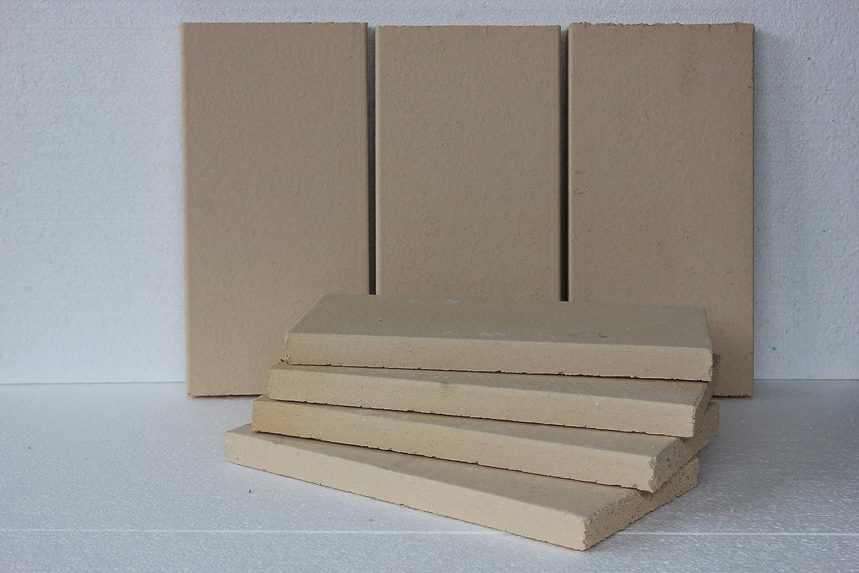 Placas de arcilla, horno chamotte, prämium Calidad 400 x 200 x 30 mm: Amazon.es: Bricolaje y herramientas
