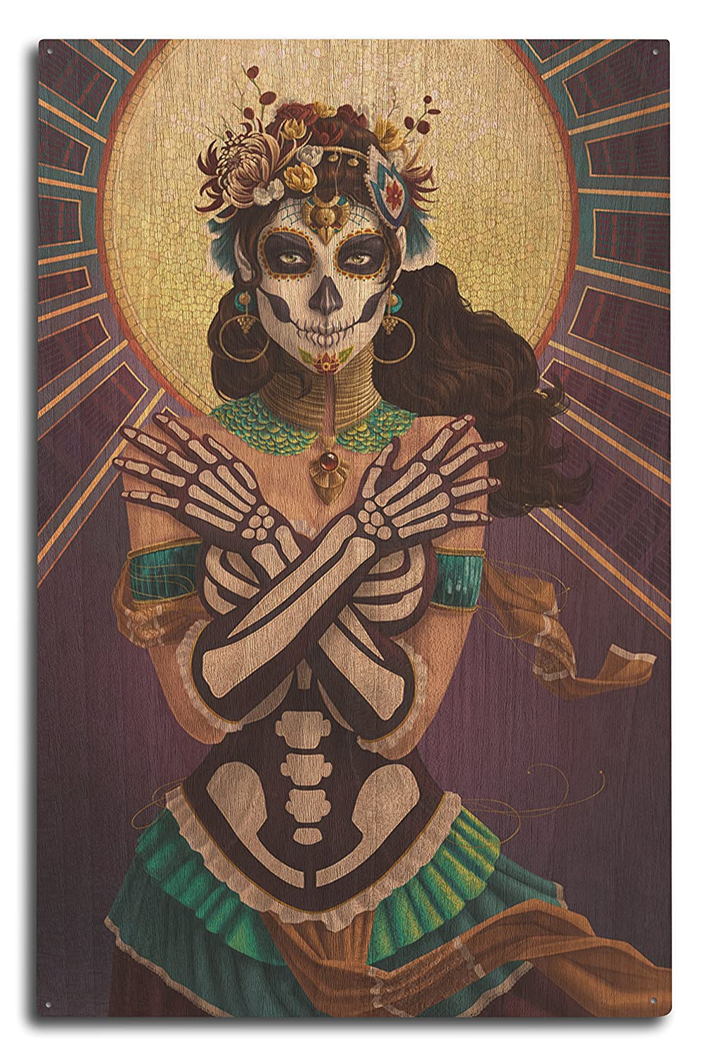 Day of the Dead – Crossbones 10 x 15 Wood Sign LANT-47346-10x15W B073672W8W 10 x 15 Wood Sign10 x 15 Wood Sign