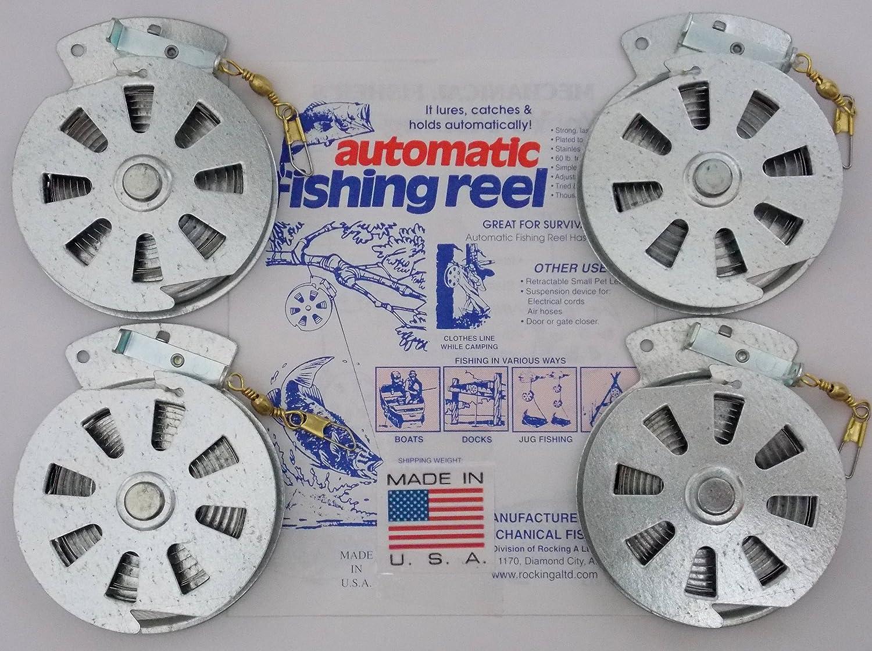 4 Mechanical Fisher s Yo Yo Fishing Reels -Package of 4 Reels- Yoyo Fish Trap – FLAT TRIGGER MODEL
