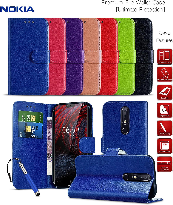 Shockproof Case Nokia 2 Wallet Cases for Nokia 2 Phone Case /& Card Holder  Magnetic Tab KickStand Case TA-1007 Folio Case Leather Wallet Flip Cover Black 2017