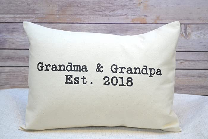 Amazon Grandparent Pillow for next year 2018 announcement – Grandparents Baby Announcement