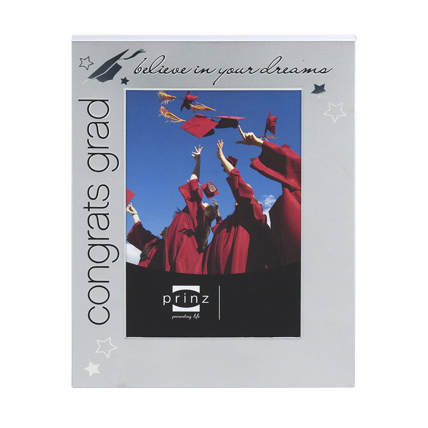 PRINZ Congrats Grad Metal for Frame for Metal 2 by 3-Inch Photo, Plata 536e5c