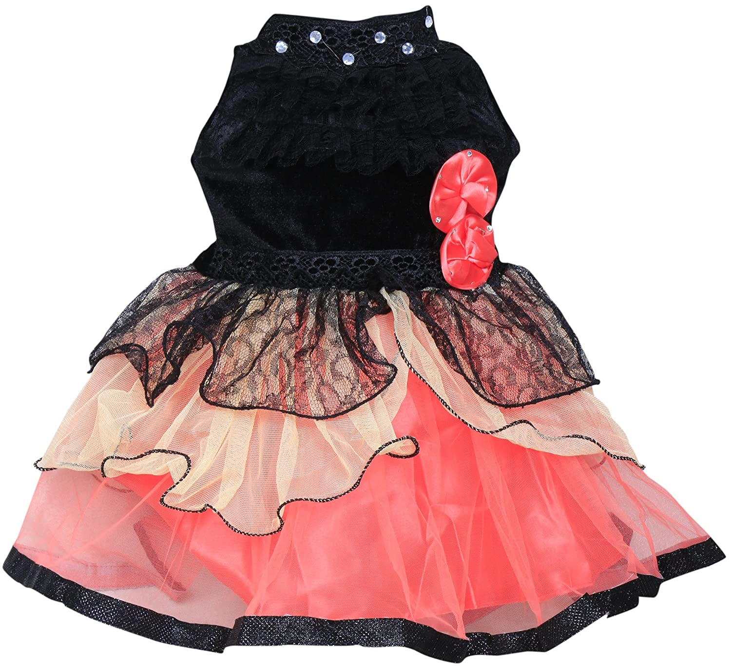 Mpc Cute Fashion Baby Girl s Velvet and Net Frock Dress for Amazon