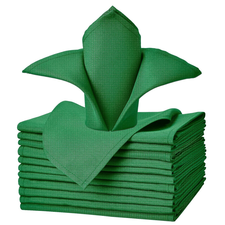 pour Mariage f/êtes VEEYOO Serviette en Tissu en Polyester Restaurant Tissu Nappe de Table Napkins-43 x 43 cm