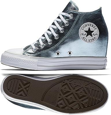 Converse - Converse Ctas Lux Mid Scarpe Donna Celesti Zeppa ...