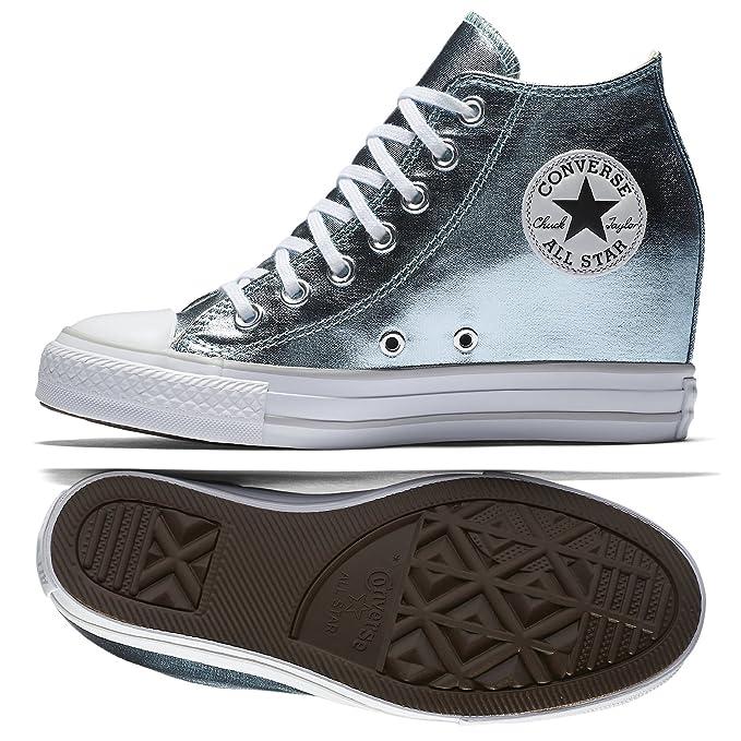 scarpe donna converse zeppa alta