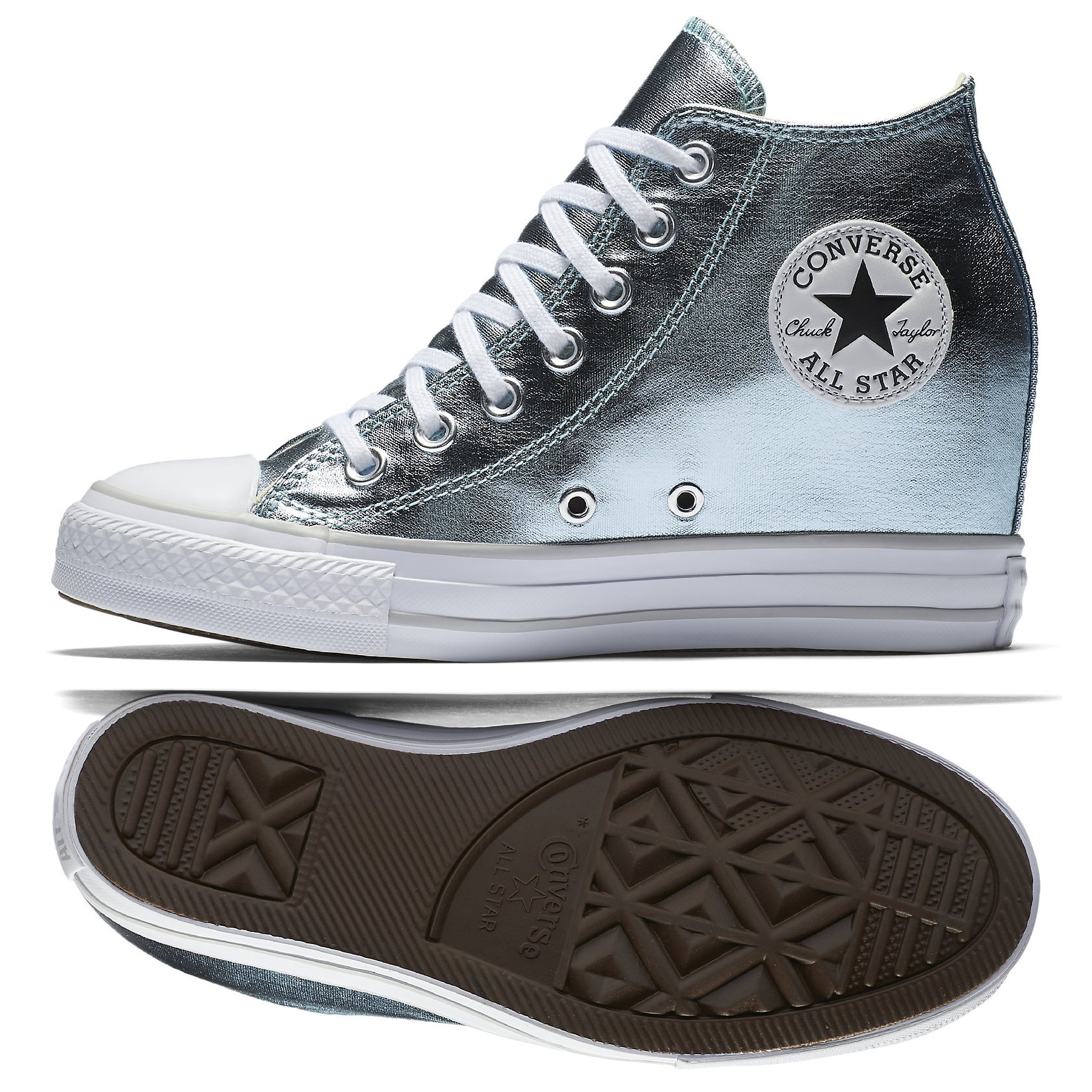 ff92631679019d Galleon - Converse Chuck Taylor All Star Lux Metallic Mid Top 556780C  Glacier Women Shoes (size 10.5)