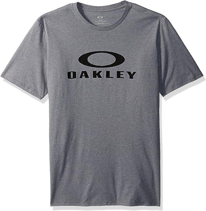 Oakley Hombres 50-bark Ellipse Manga corta Playera - Gris -: Amazon.es: Ropa y accesorios