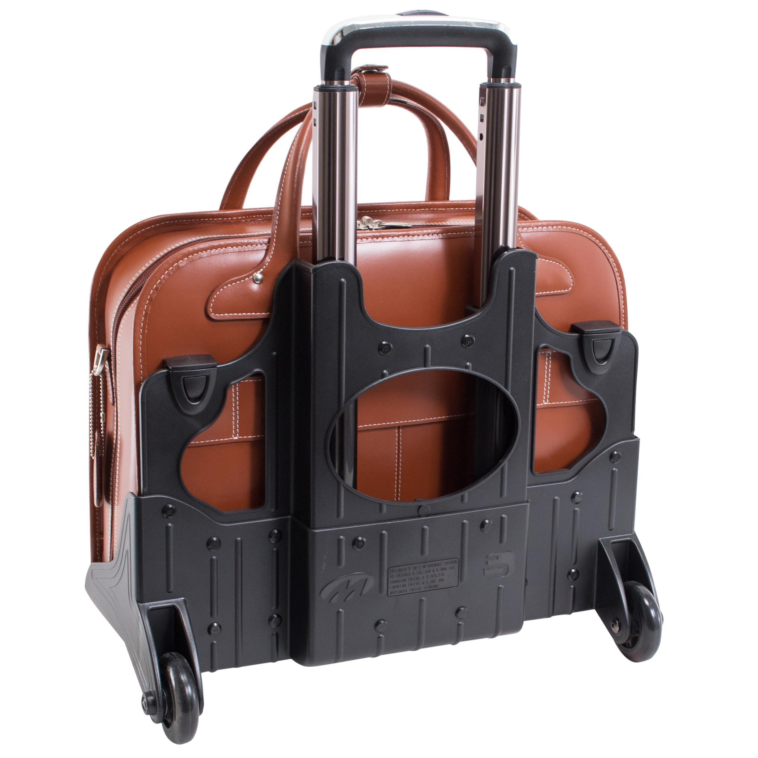 McKleinUSA LAKEWOOD 96615 Black Leather Fly-Through Checkpoint-Friendly Detachable-Wheeled Ladies' Briefcase by McKleinUSA (Image #4)