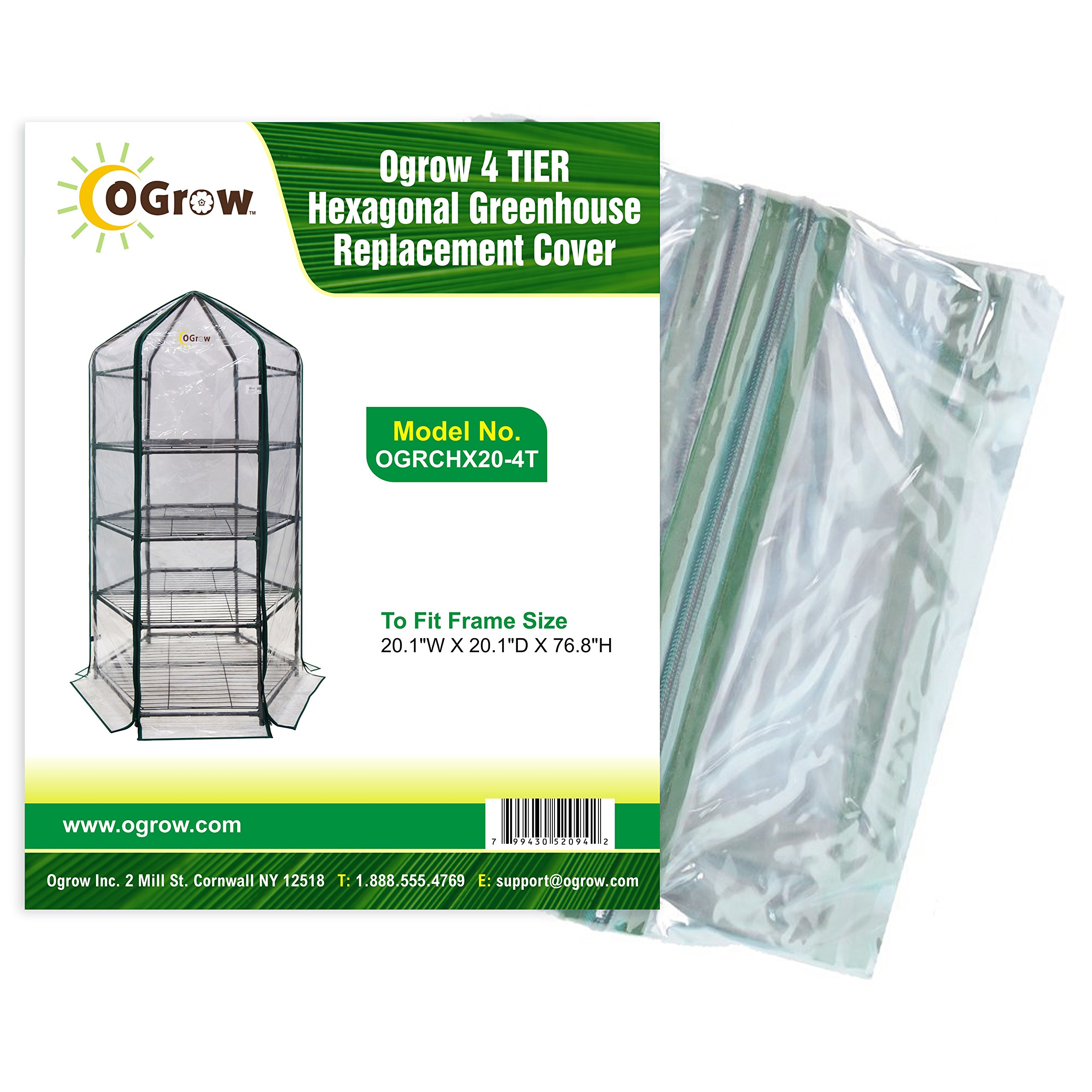 Portable Greenhouse Replacement Cover : Galleon ogrow tier hexagonal greenhouse replacement