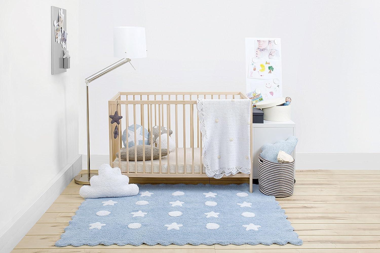Alfombra lavable color azul claro Happy Decor Kids HDK-102