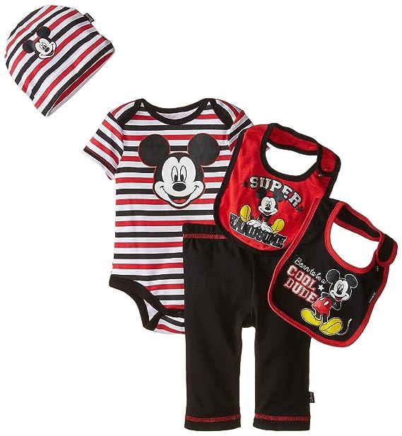 19f79e3eab25 Disney Baby Baby-Boys Newborn Mickey Mouse 5 Piece Gift Box Set Cool ...