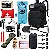 EVERLIT 42L Tactical Backpack Survival Kit Bugout Bag Assault Pack Rucksack with Hydration Bladder and Survival Gear 3 Day Ru