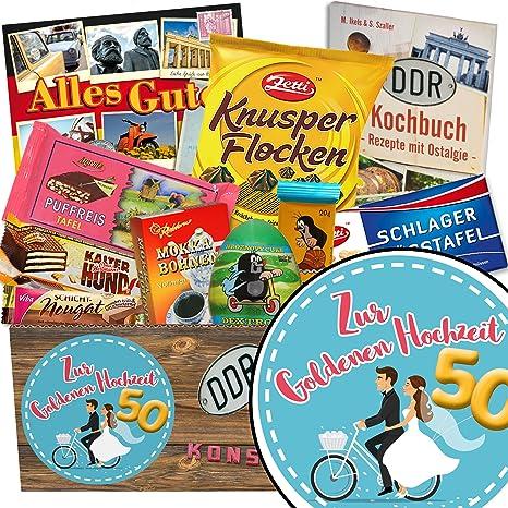 Zur Goldenen Hochzeit Schokoladen Paket Geschenk Ideen Zur