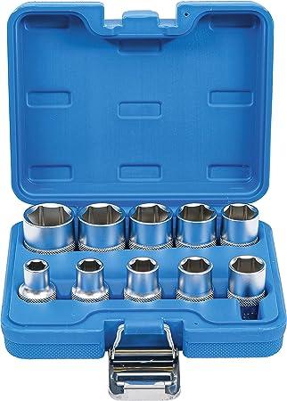 BGS Steckschlüssel-Einsatz-Satz Zwölfkant Innenvierkant 10mm Zollgrößen 11-tlg