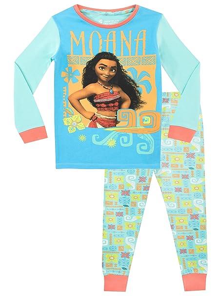 Disney Pijama para niñas Moana Ajuste Ceñido Multicolor 10-11 Años