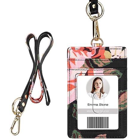 Amazon.com: Soporte para tarjetas de identificación con ...