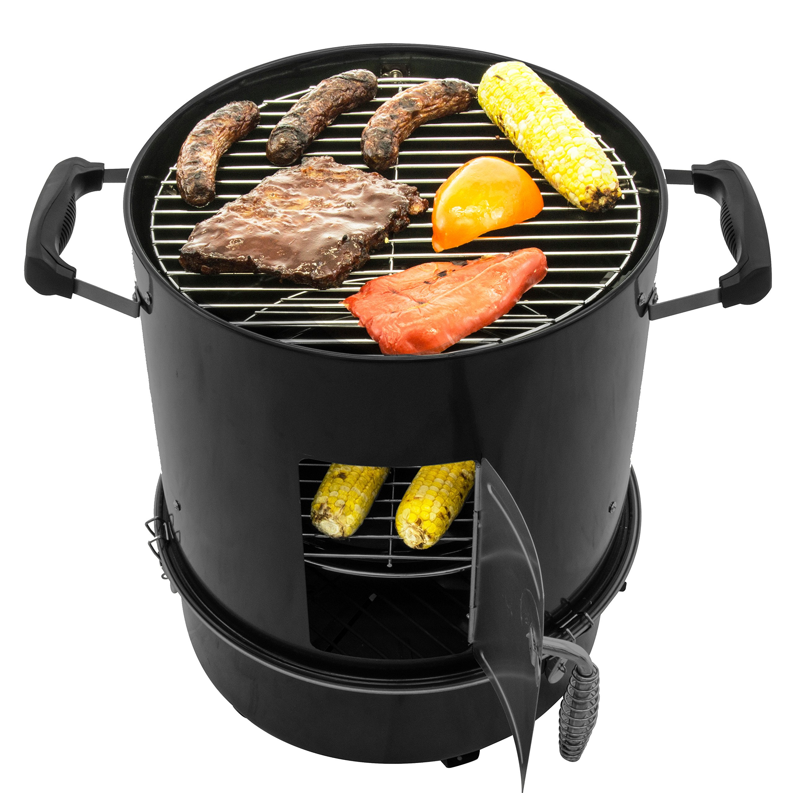 Dyna-Glo DGX376BCS-D  Compact Charcoal Bullet Smoker - High Gloss Black by Dyna-Glo (Image #4)