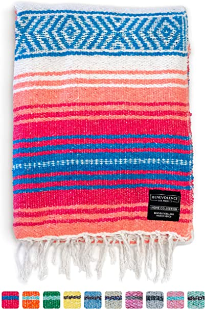 Mexicains traditionnels yoga blanket-Gris