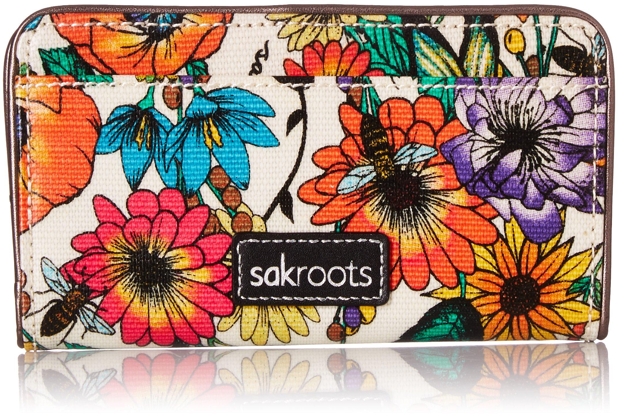 Sakroots Slim Wallet, Optic in Bloom