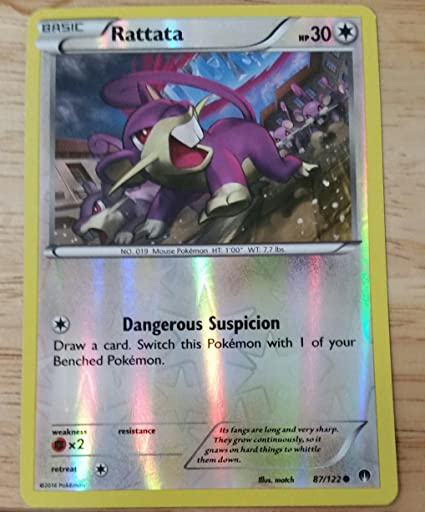 74368ba44763d Amazon.com: Pokemon - Rattata (87/122) - XY Breakpoint - Reverse ...