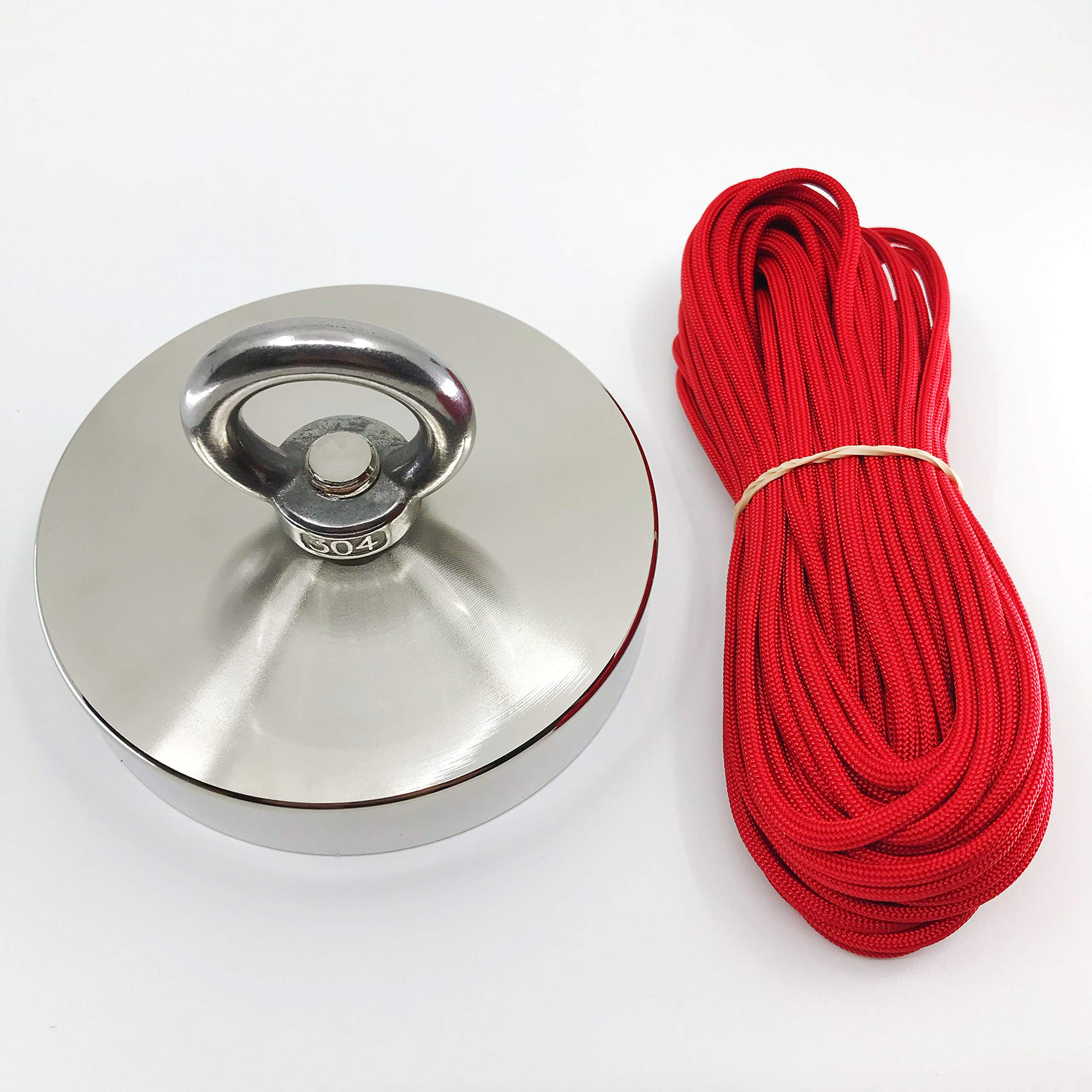 1300 LB Magnet Fishing by Savage Magnets - 50 feet 550lb Tested Paracord Included Treasure Hunting Retrieving and Lifting River and Salvage Recovery- Heavy Duty Pulling Power Eyebolt - Neodymium
