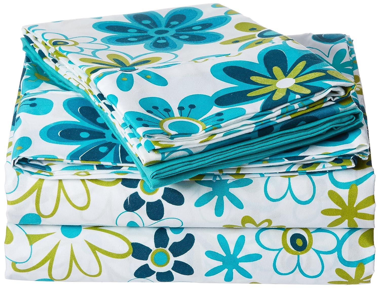 Spirit Linen Palazzo Home 101GSM 6-Piece Luxurious Printed Sheet Set, Twin, Blue/Green SPJCF PH-TW-BGR