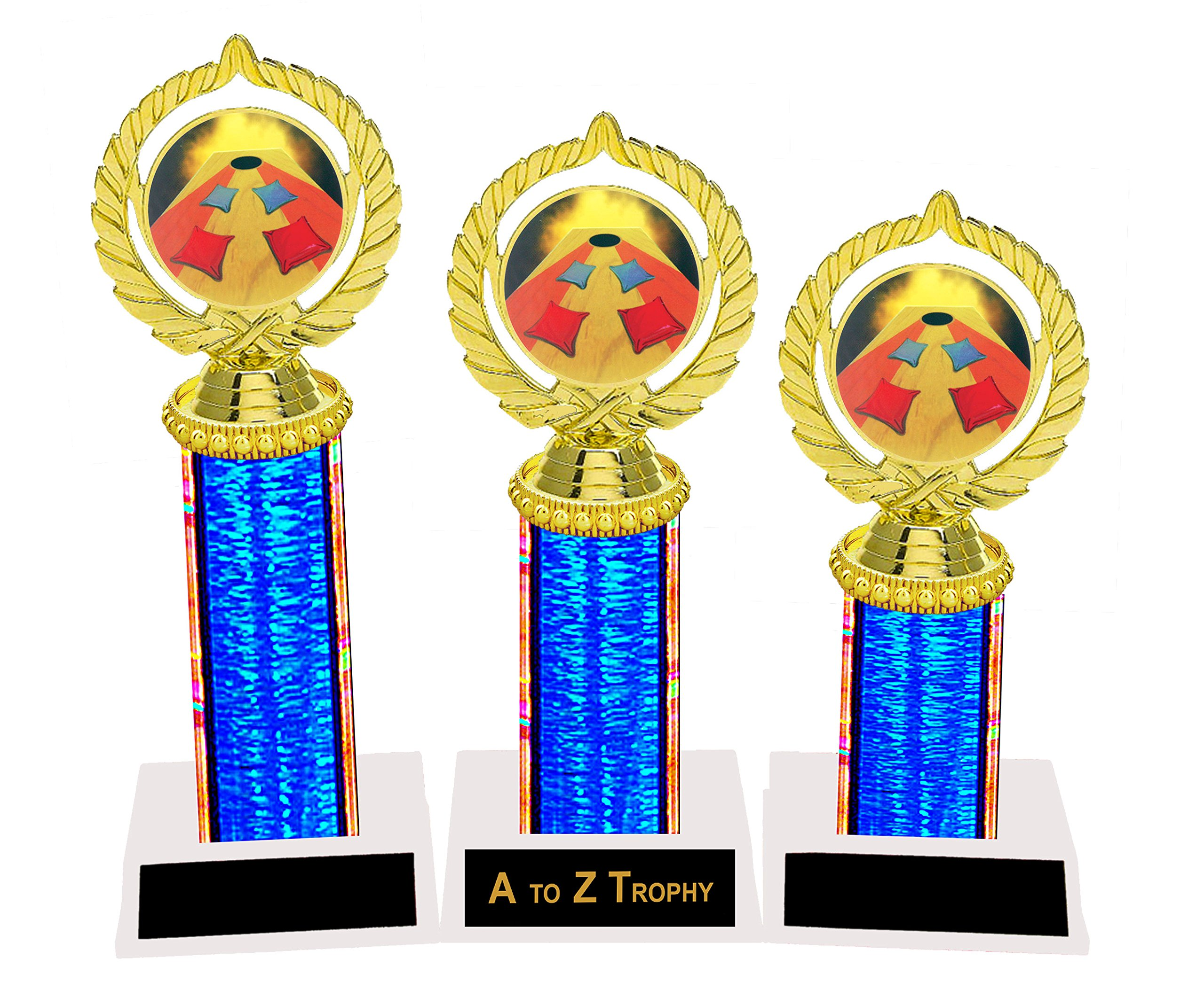 Cornhole Trophy Trophies 1st 2nd 3rd Place Tournament Backyard Games Awards Free Engraving Color Choice