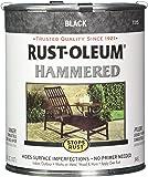 Rust-Oleum 7215502 Hammered Metal Finish, Black, 1-Quart