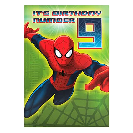 Hallmark - Tarjeta de Spiderman por tercer cumpleaños con ...