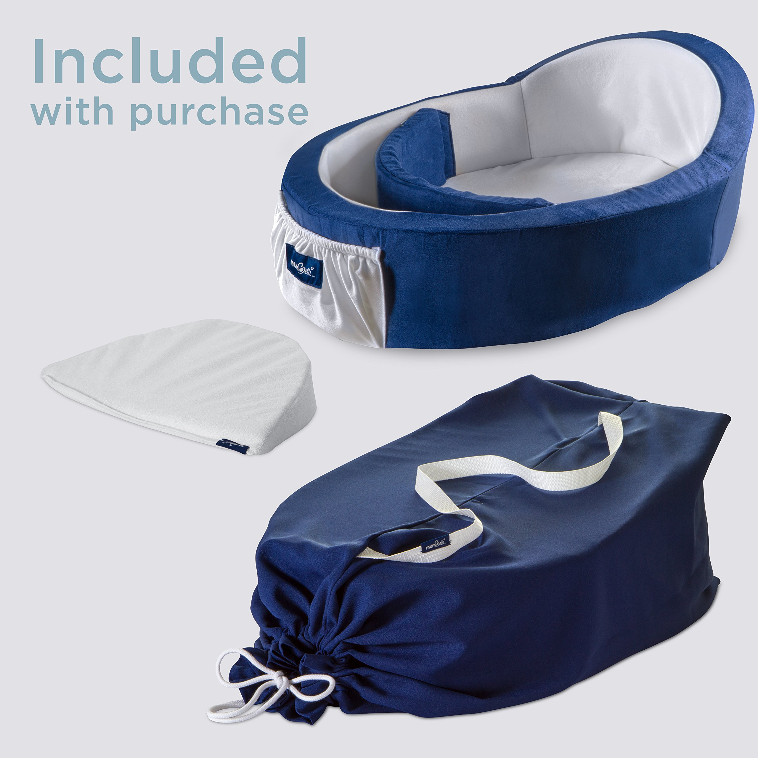 Mumbelli – The only Womb-Like and Adjustable Infant Bed; Patented Design (Nautical). Use as a Sleep transitioner, Lounger and co Sleeping. Reflux Wedge and Carry Bag Included. by Mumbelli (Image #4)