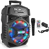Portable Bluetooth PA Speaker System - 1000W Outdoor Bluetooth Speaker Portable PA System w/Microphone in, Party Lights, USB