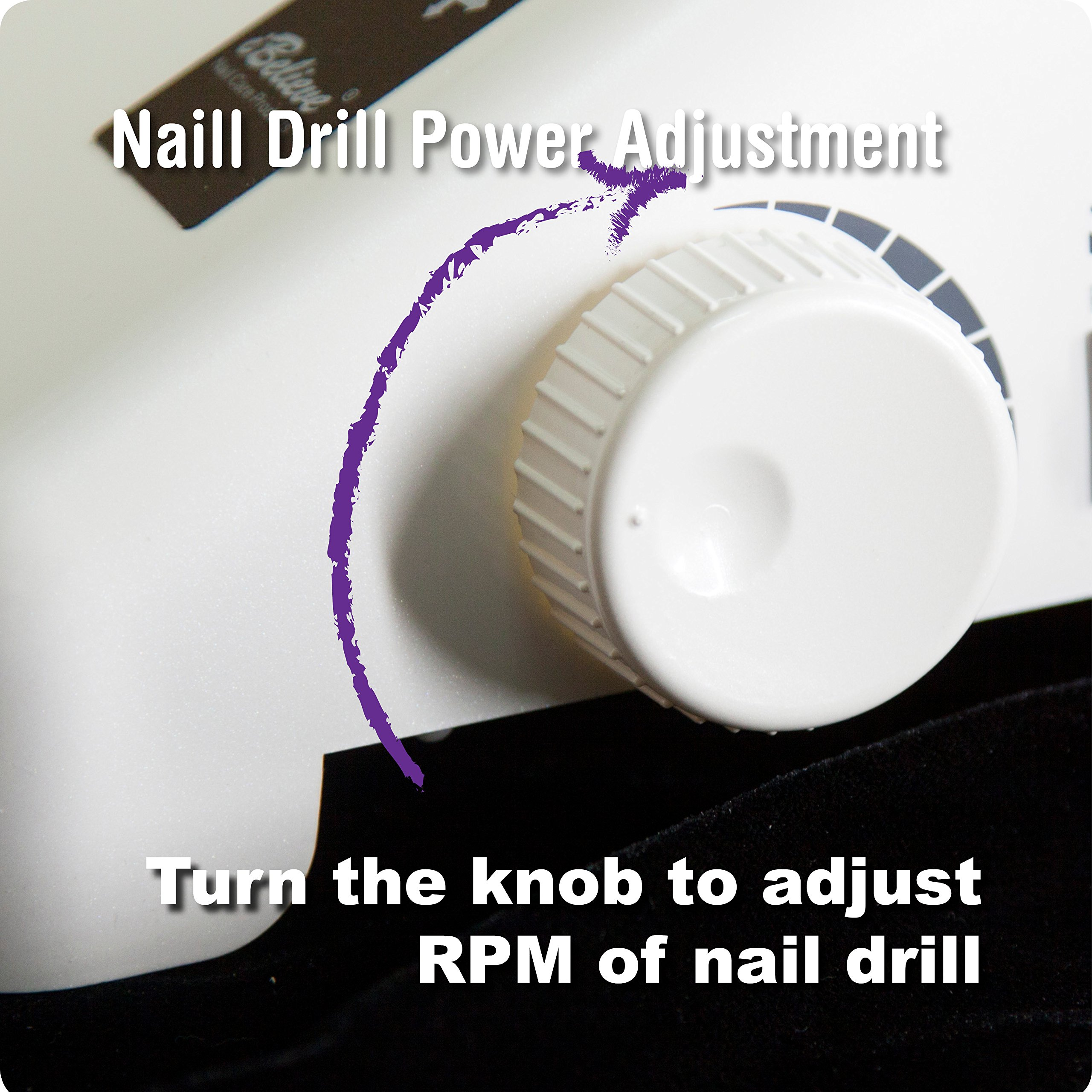 35000 RPM Nail Drill Dust Collector Desk Lamp 3-in-1 machine for salon by O.S.S.O Gel (Image #9)