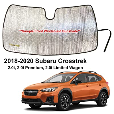 YelloPro Custom Fit Automotive Reflective Front Windshield Sunshade Accessories UV Reflector Sun Protection for 2020 2020 2020 Subaru Crosstrek 2.0i, 2.0i Premium, 2.0i Limited Wagon: Automotive