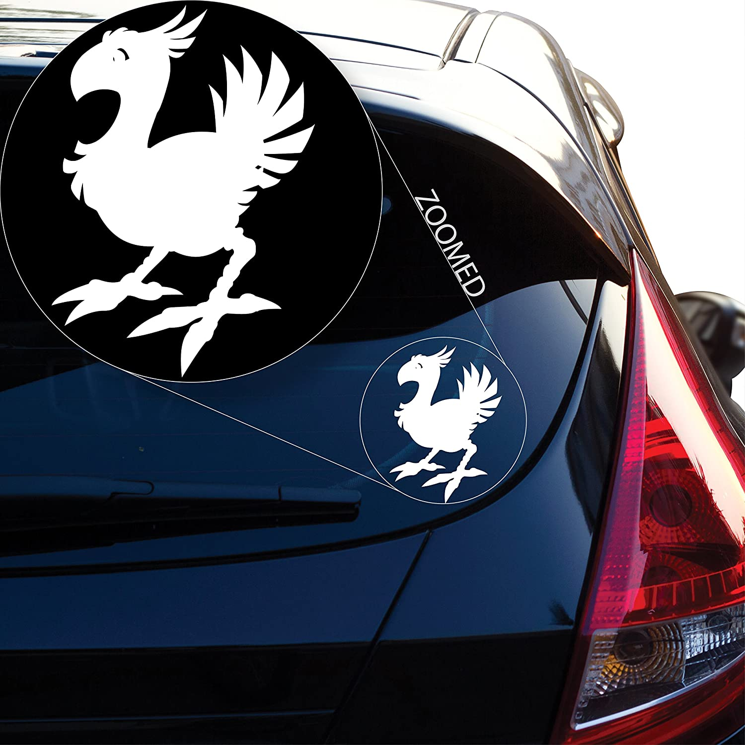 Laptop and More # 806 6 x 4.2 805 6 x 4.2, White # 806 Yoonek Graphics Chocobo Final Fantasy 7 Decal Sticker for Car Window Laptop and More