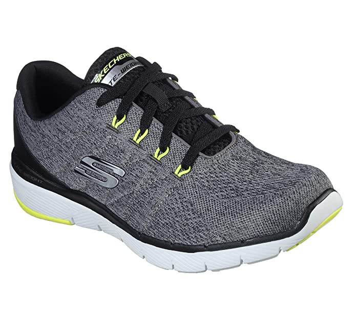 Skechers Flex Advantage 3.0-Stally Sneakers Herren Grau (Grey & Black Mesh)