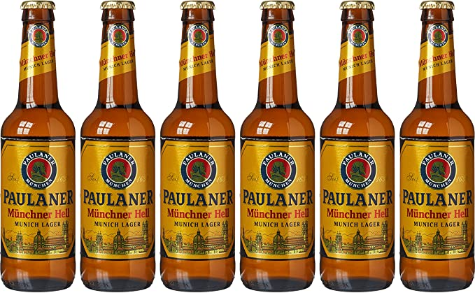 Paulaner Munich Lager Beer, 6 x 330 ml