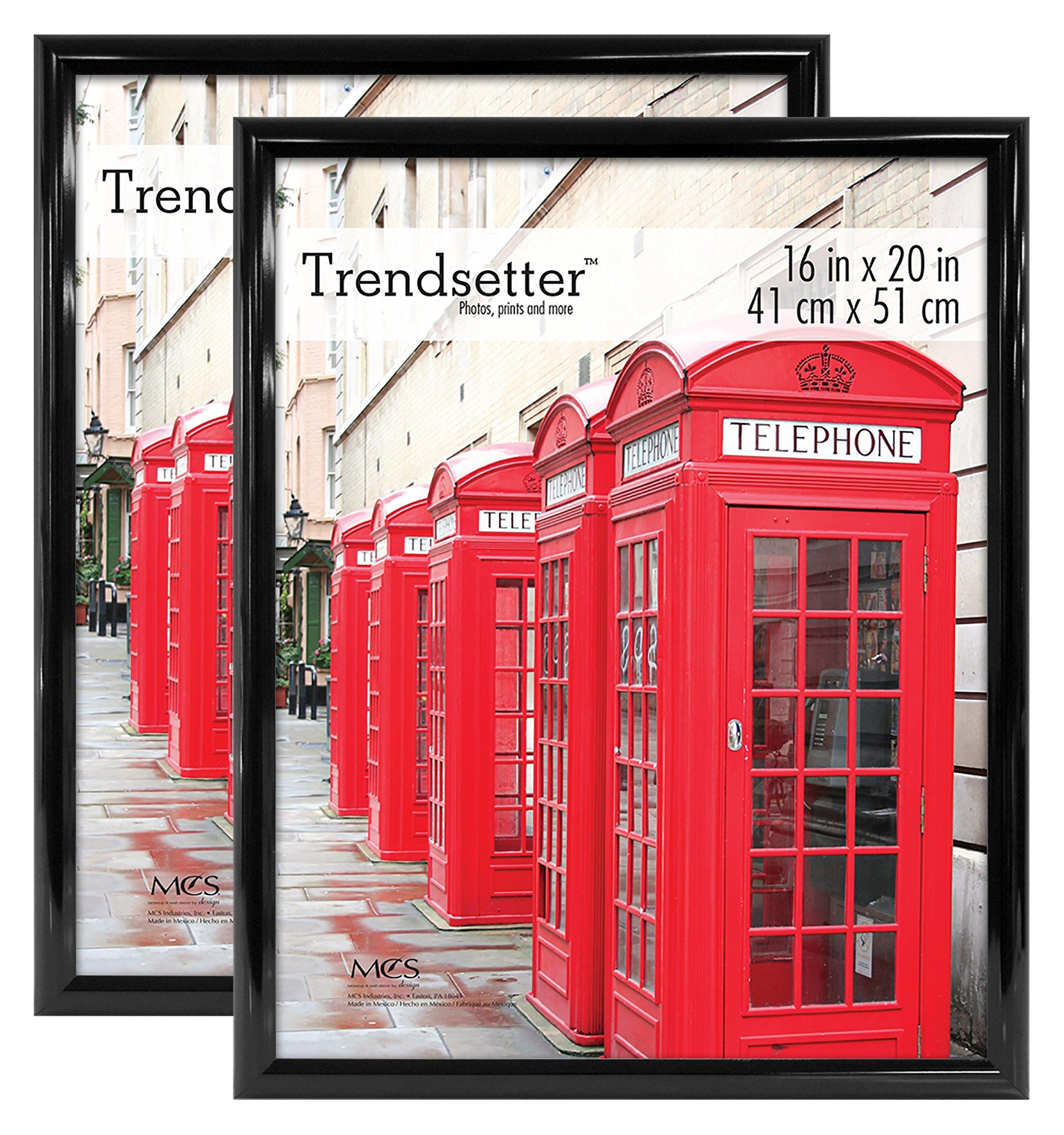 MCS Trendsetter 16x20 Inch Poster Frame (2pk), Black (65682) by MCS (Image #1)