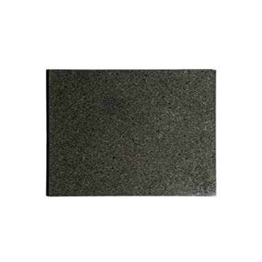 Kota Japan Premium Non-Stick Natural Black Granite Stone Pastry Cutting Board Slab 12  X 16  with No-Slip Rubber Feet for Stability and to Protect your Countertops | Easy to Clean | Stays Cool