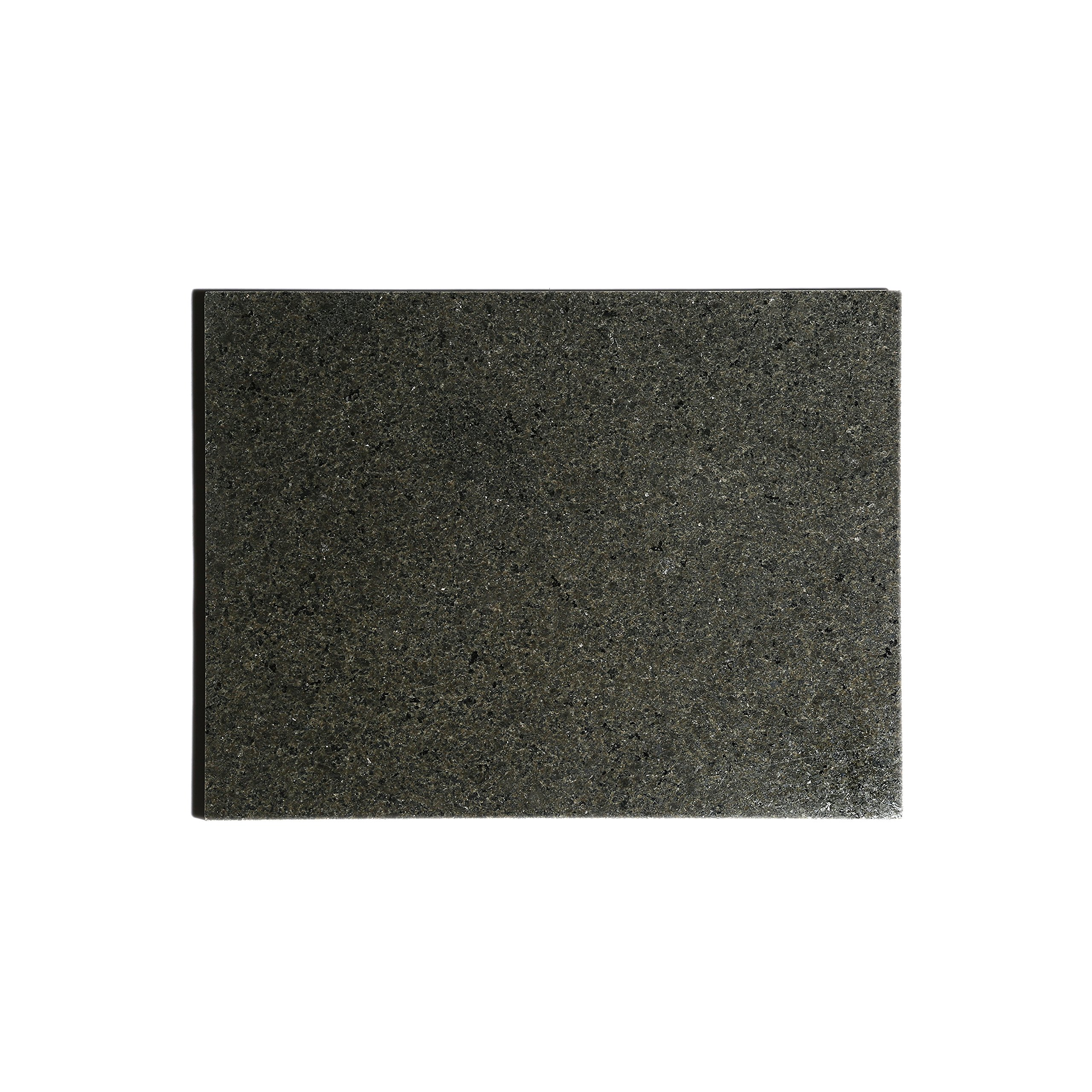 Kota Japan Premium Non-Stick Natural Black Granite Stone Pastry Cutting Board Slab 12'' X 16'' with No-Slip Rubber Feet for Stability and to Protect your Countertops | Easy to Clean | Stays Cool