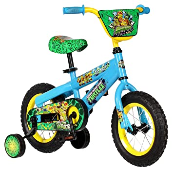 pacific cycle teenage mutant ninja turtles boys 12 bicycle blue
