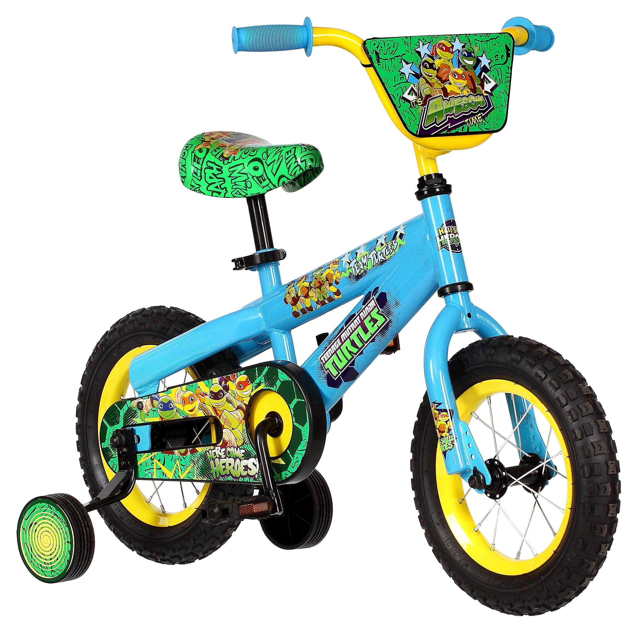 Pacific Cycle Teenage Mutant Ninja Turtles Boys 12'' Bicycle, Blue