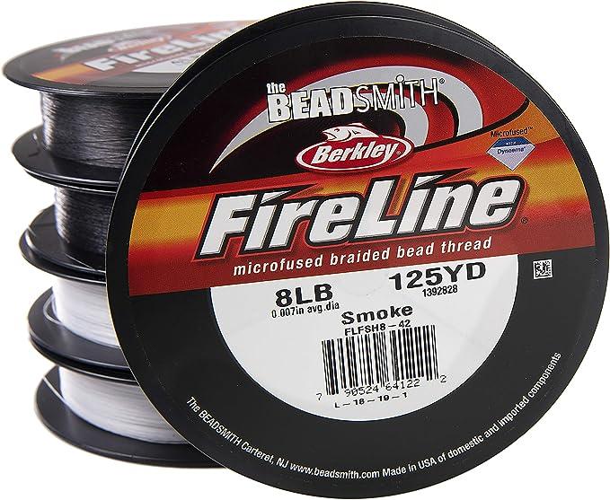 FireLine Braided Beading Thread 6 pound-test Clear .006 Inch Average Diameter 125 Yards