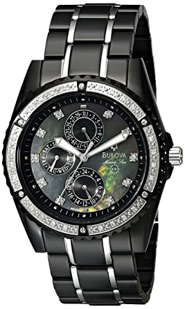 d505975c5af Image Unavailable. Image not available for. Color  Bulova Men s 98E003 Marine  Star Diamond Accented Watch